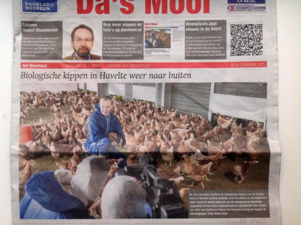 Da's Mooi neemt het bericht over Egg-tivity in Hart van Nederland op op de voorpagina.