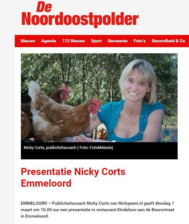 Open Coffee Noordoostpolder artikel De Noordoostpolder