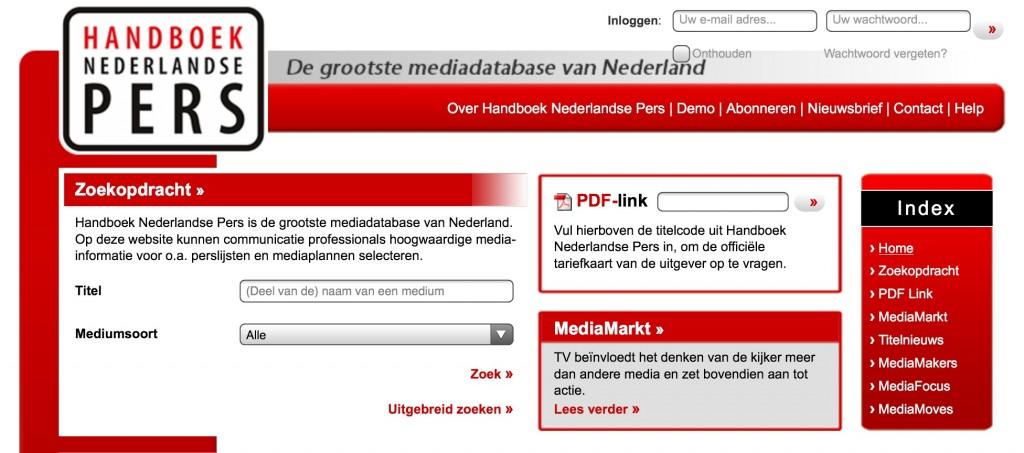 Handboek Nederlandse Pers