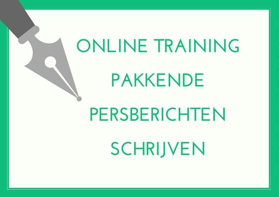 online training persberichten schrijven